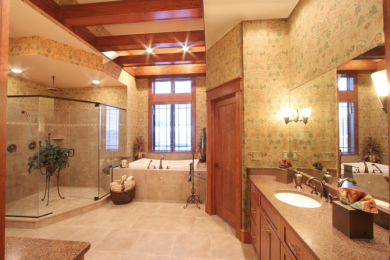 Custom master baths by drawn by studer residential designs for Custom master bathroom designs
