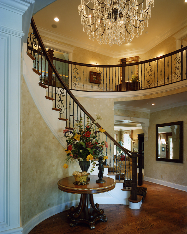 Foyer In Plan : Foyer photos of custom house plans by studer residential