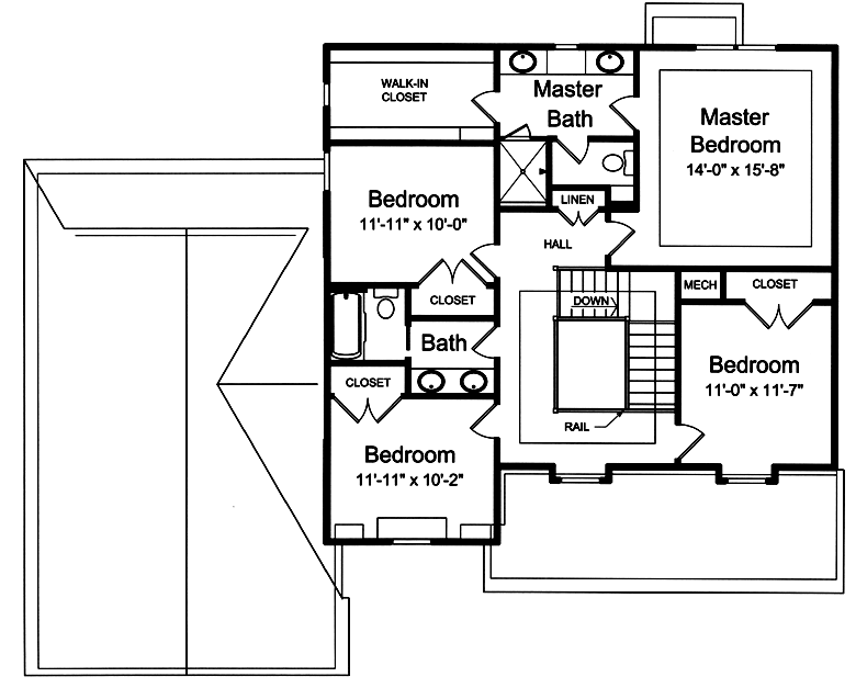 new home plans - Second Floor Floor Plans 2