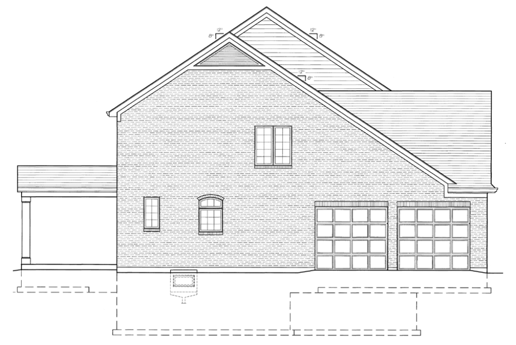 Left Elevation Plan : All plans the brentwood