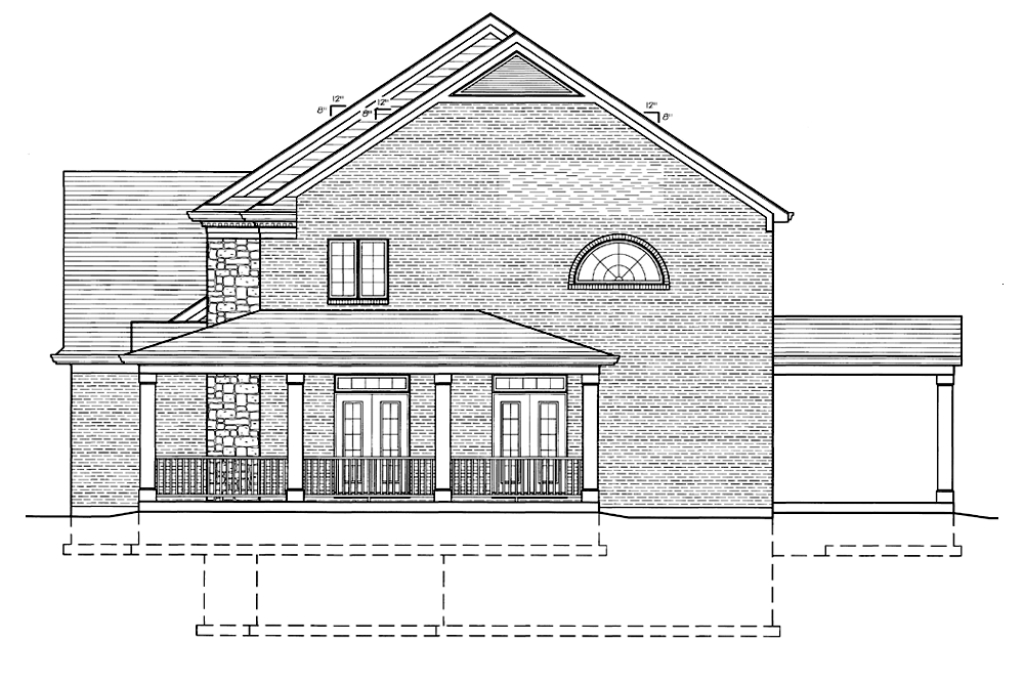 SRD 616 Brentwood Right Side Elevation