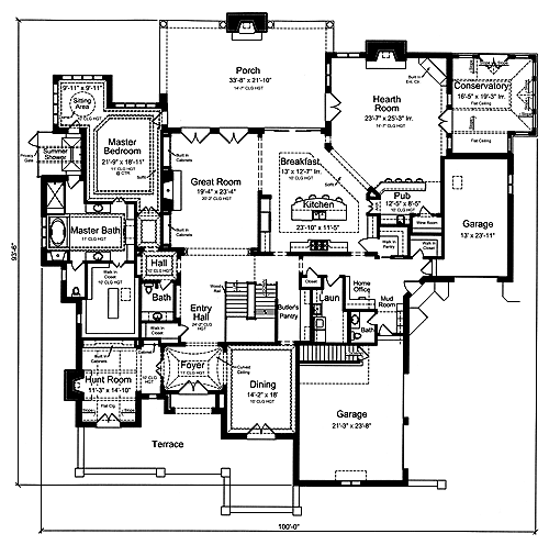 Fun home plans home design and style for Great room floor plans single story