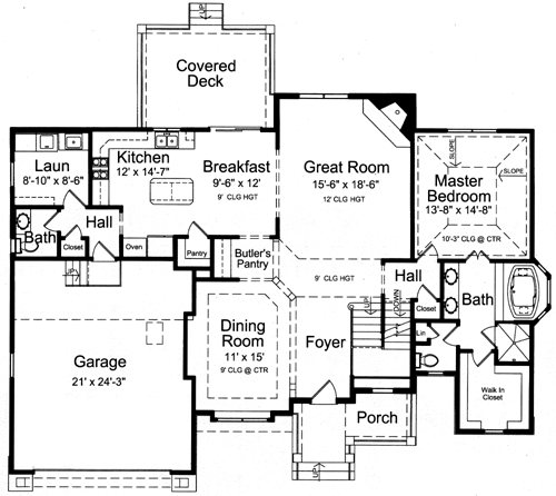 Country style pre drawn house plans for Pre drawn house plans