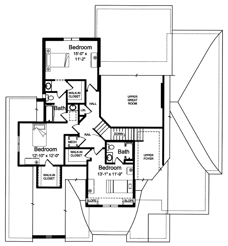new home plans 2266 sq ft first floor - Second Floor Floor Plans 2