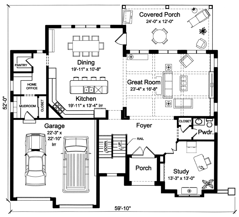 New House Plans Drawn By Studer Residential Designs - House designs with master bedroom at rear