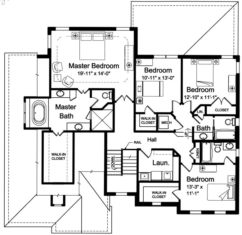 luxury home plans - Second Floor Floor Plans 2