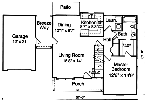 starter home plans for beginner home buyers drawn by