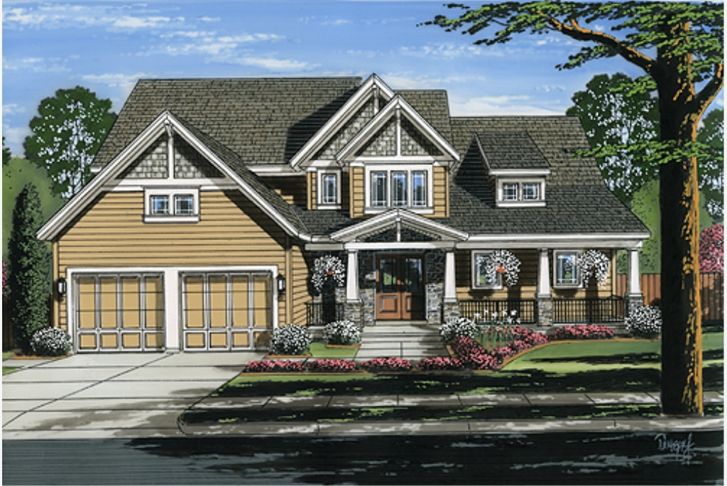 Country Style Pre-drawn House Plans on