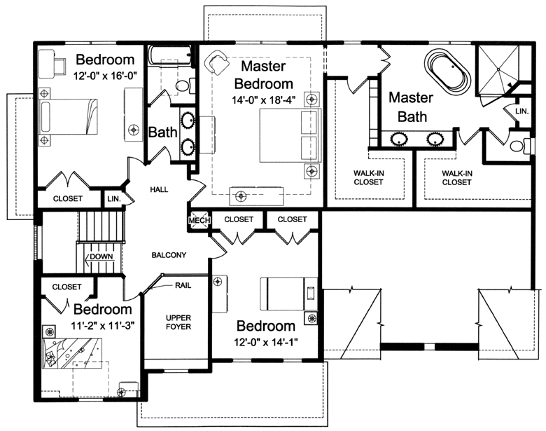 Second floor floor plans 2 2 amityville 108 ocean ave 2nd for Second story floor plan