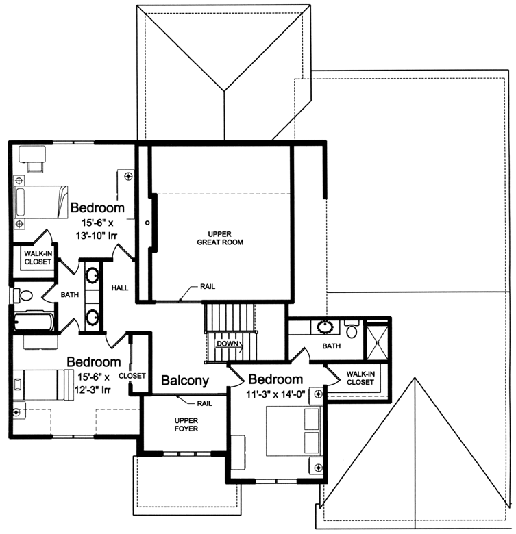 Double staircase foyer house plans for 20 x 20 master bedroom plans