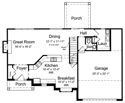 Starter home plans for beginner home buyers drawn by for Starter home floor plans