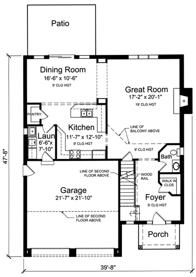 House Plans drawn for the Narrow Lot by Studer Residential ... on townhouse plans with garage, 2 story home plans modern, patio home plans with garage, duplex plans with garage,