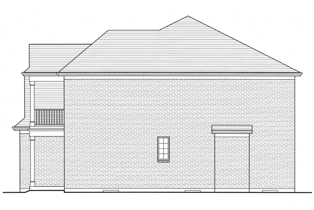 SRD 610 St. Catherine Right Side Elevation