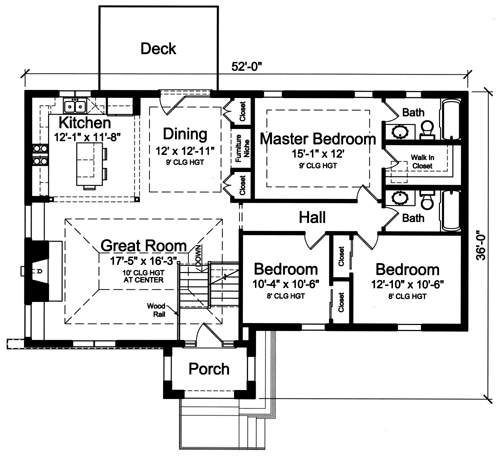 House plans drawn with bi level split foyer by studer residential designs