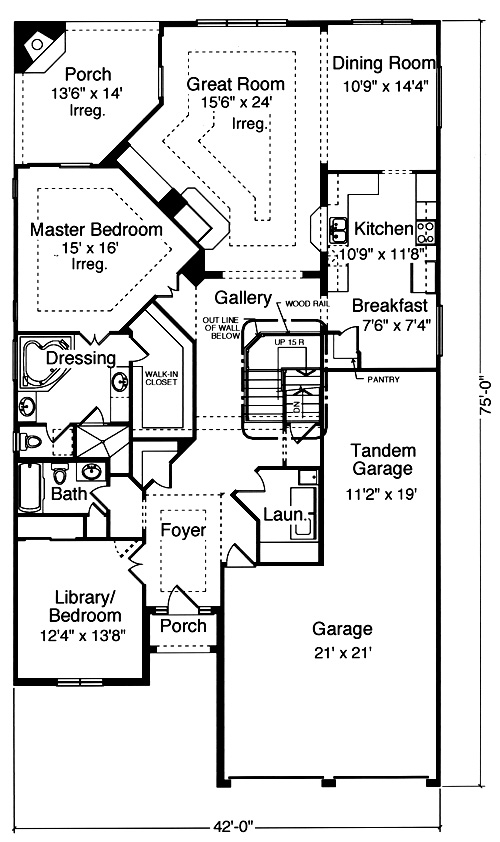 Patio home plans from the pre drawn stock plan collection for Patio home plans