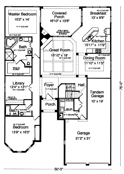 SRD 421 Concord B. Patio Home Plan ...