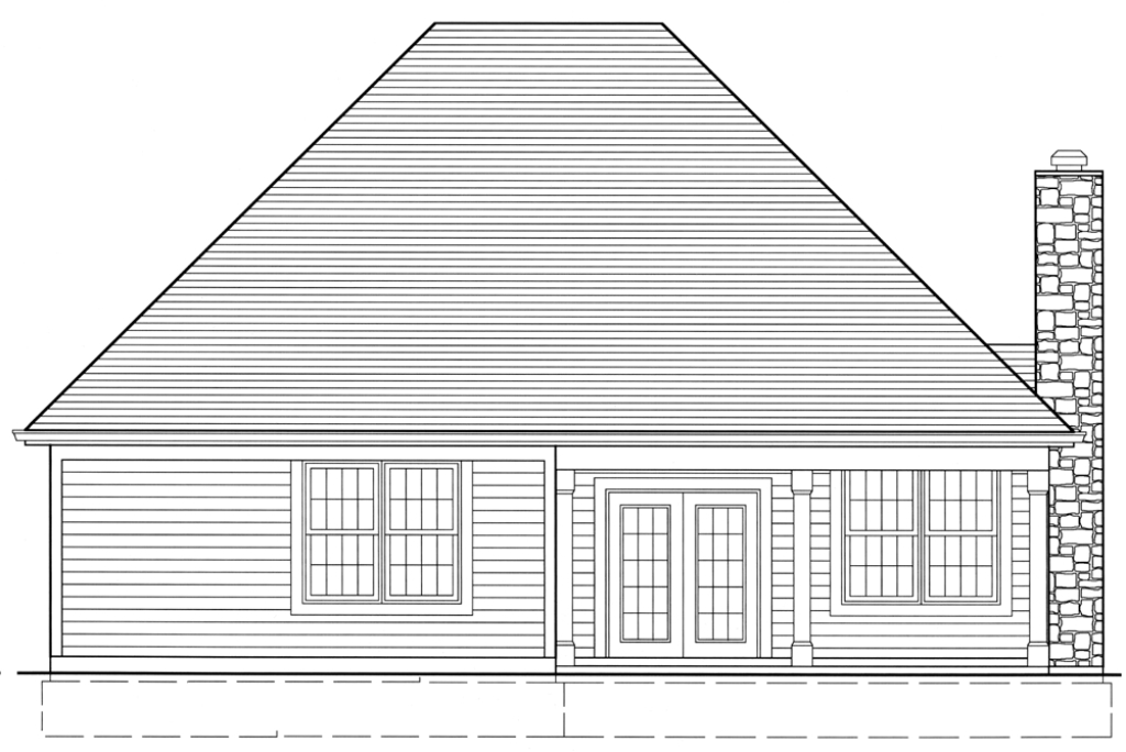 All plans the hartford a for Patio home plans with rear garage