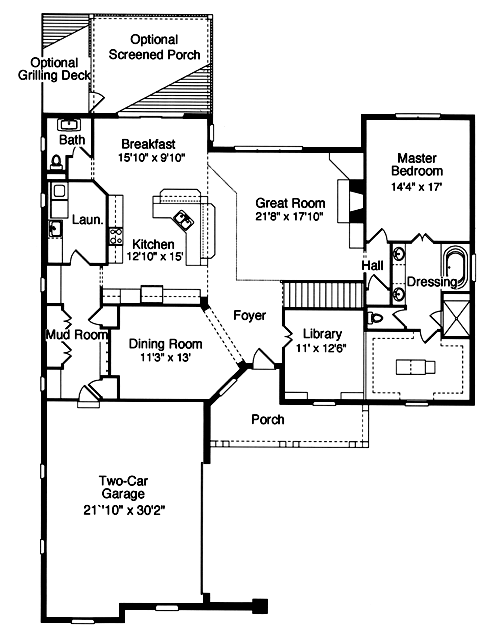 Empty nest houses with over 2000 square feet drawn by for Empty nester home plans designs