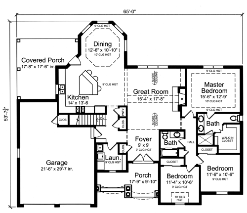 Home of the month plan for Pre drawn house plans