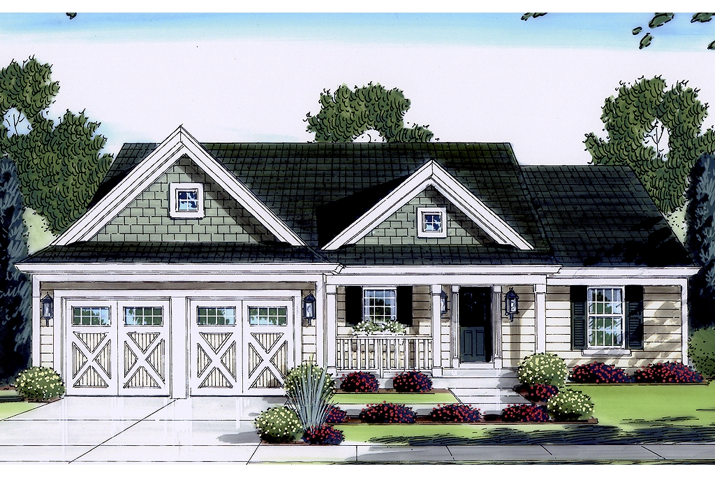 Country Style Pre-Drawn House Plans