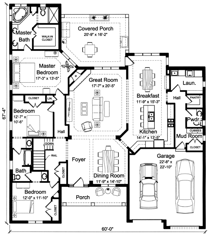 all plans Open Great Room House Plans new home plans open great room house plans