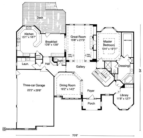 Empty Nest Houses With Over 2000 Square Feet Drawn By